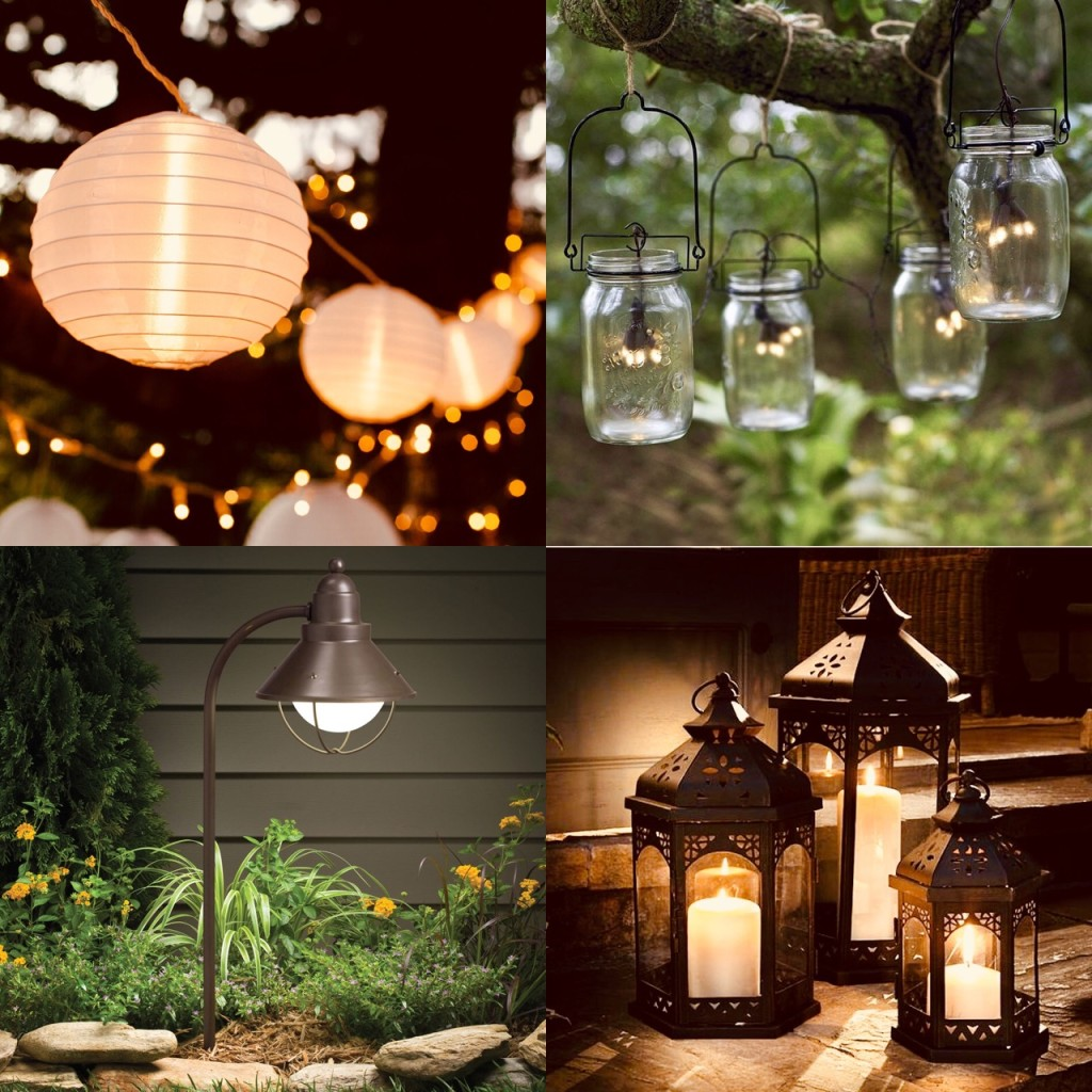 Outdoor patio lighting.