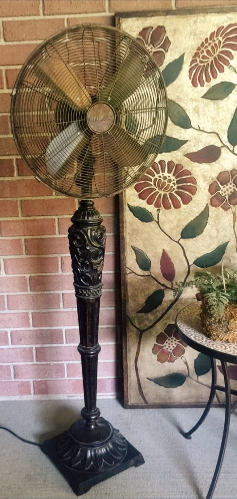 Vintage floor fan by Oak Tree Vintage.