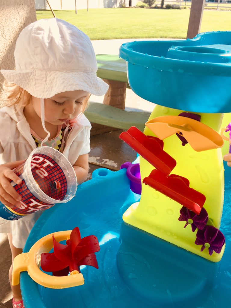 Water table for kids.