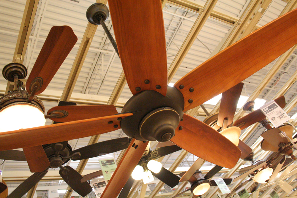 Patio ceiling fans.