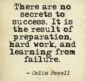 Colin Powell quote on sucess.