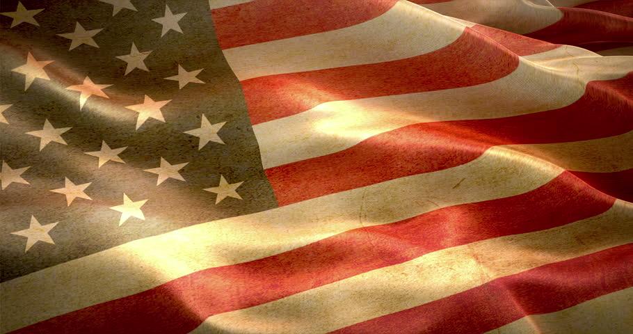 Vintage American flag.