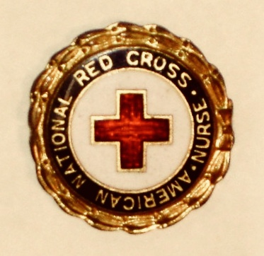 Red Cross symbol.