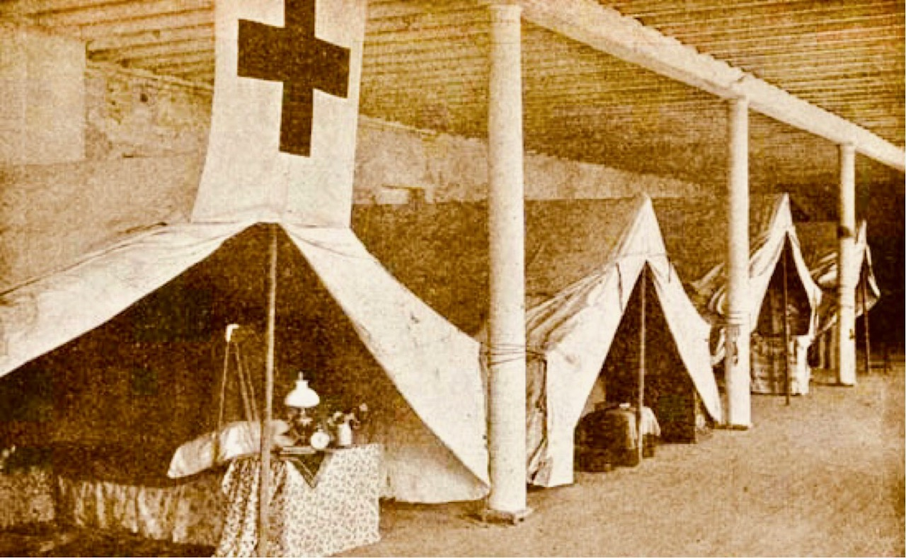Red Cross founded by Clara Barton.