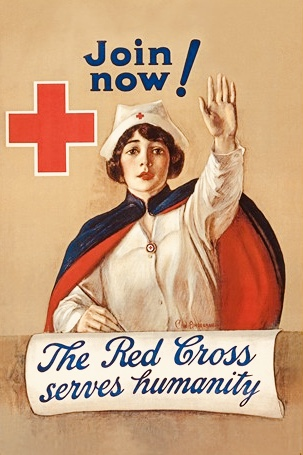 Vintage Red Cross sign.