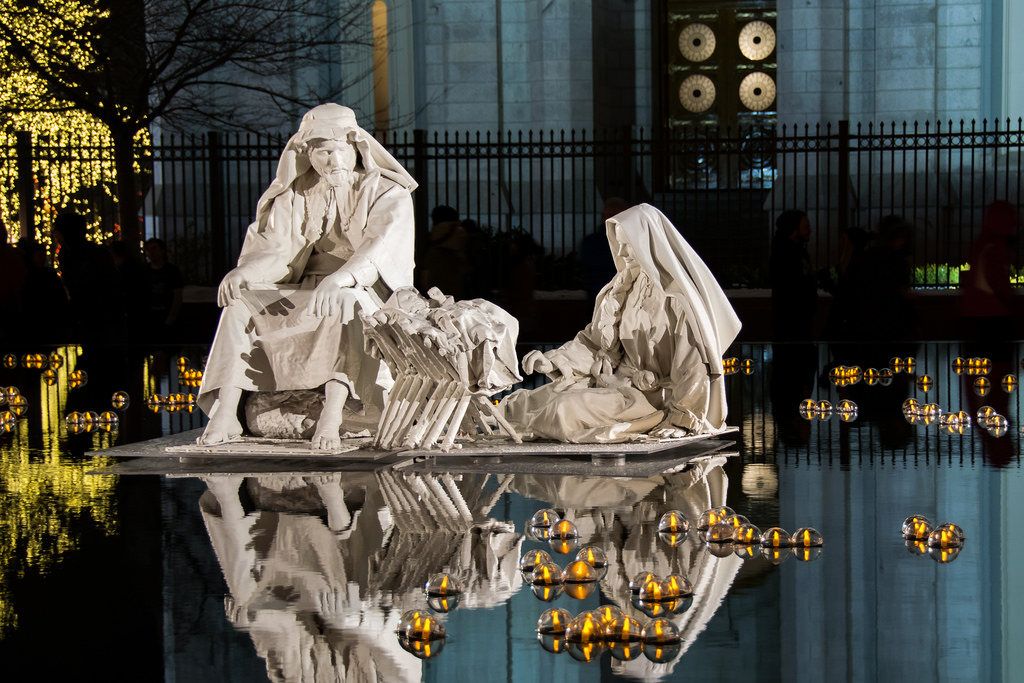Temple Square nativity.
