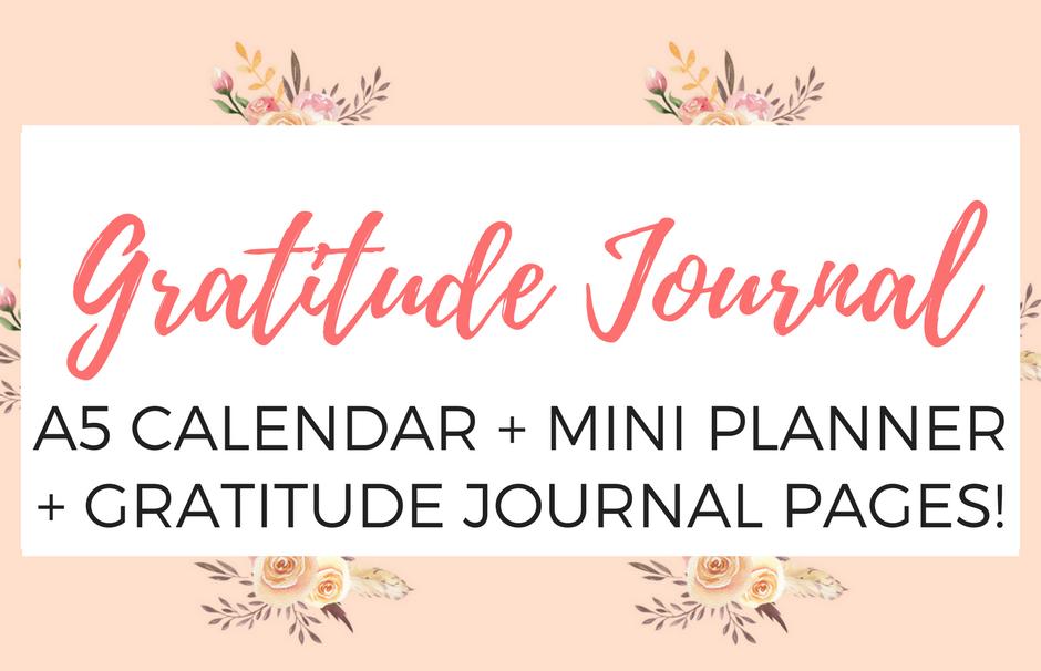 Gratitude journal calendar.